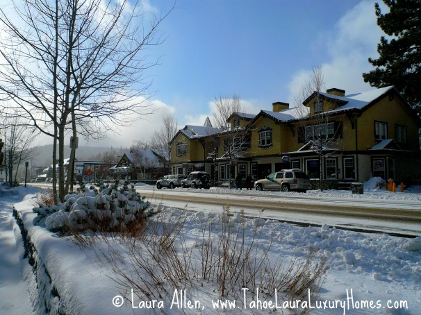 Snow in Lake Tahoe, January 22, 2012 Tahoe City, California