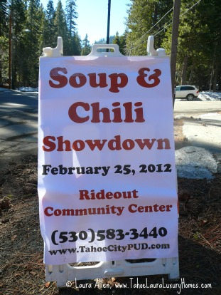 3rd Annual Soup and Chili Cook Off at the Rideout Community Center, Tahoe City, California, Saturday, February 25, 2012