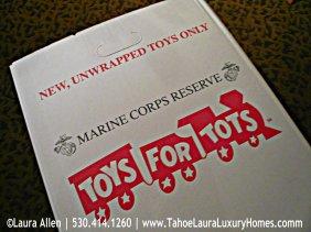 Toys for Tots, Sunnyside Resort – Tahoe City, California