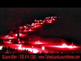 Torchlight Parade – Christmas Eve in Squaw Valley, California 2012